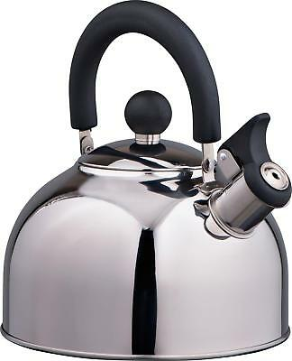Portable Classic Vintage Retro Stainless Steel Whistling Camping Kettle 2 Litres