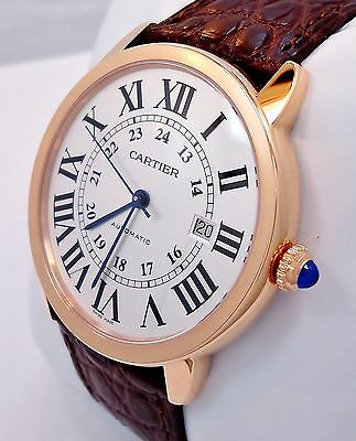 Cartier Ronde Solo XL 42mm Auto 18K Rose Gold Watch W6701009 MSRP9.6K *BRAND NEW