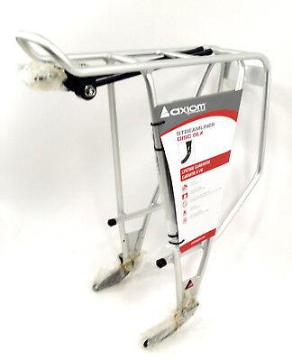 Axiom Rear Rack - Axiom Bicycle Rear Bike Rack Streamliner Disc DLX Silver