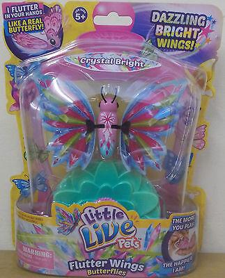 Little Live Pets Butterfly Series 3 ~ Crystal Bright ~ Flutter Wings Butterflies