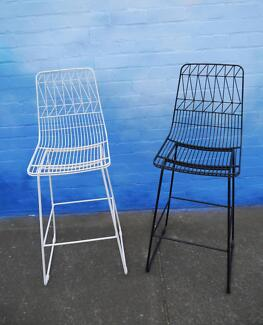 New Replica Lucy Bend Wire Bar Stools 750h Outdoor Furniture