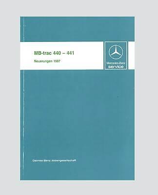 MB-trac 700 - 1100 Werkstatthandbuch Wartung Instandhaltung 1987 Original gebraucht kaufen  Deutschland