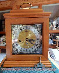 Vintage Ridgeway Mantle Clock Westminster Chimes Franz Hermle Movement Excellent