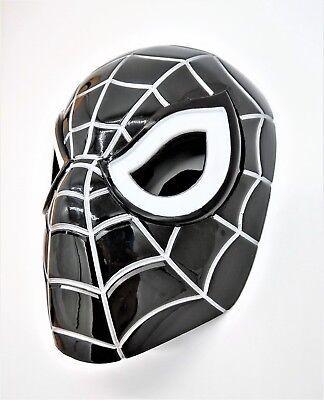 Marvel Black Venom Spiderman mask with LED Eyes That Light Up (with Batteries) (Spiderman Mask Black)