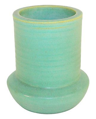 Teco Pottery Matte Green Ribbed Vase Shape 363