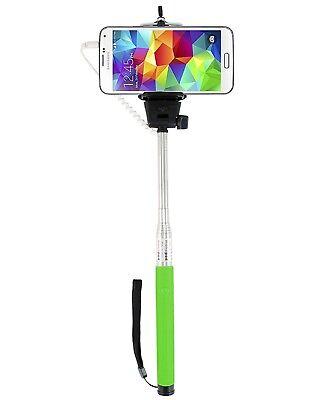 Green Extendable Selfie Stick With Adjustable Holder for Motorola Moto x⁴ z² g⁵