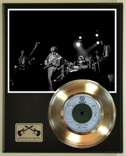 "Dire Straits ""Sultans Of Swing"" Record Display Wood Plaque"