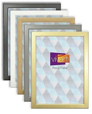 Vivarti Movie Game Theatre Poster Frame Thin Black White Oak Gold Silver (Movie Theater Poster Frames)