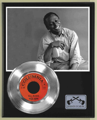 """Miles Davis """"All Blues"""" Silver Record Display Wood Plaque"""
