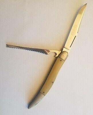 Rare Vintage Etched Hibbard Spencer Bartlett OVB Fishing Knife 1189y
