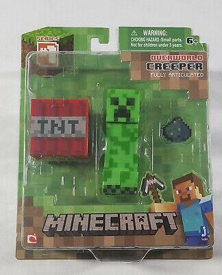 2015 Minecraft Overworld Creeper Series #1 Figure with Accessories