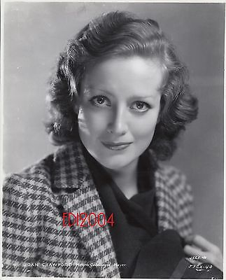 JOAN CRAWFORD Older Restrike Photo 1940s Sexy High Fashion Movie Star Portrait