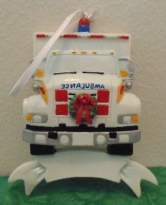 Personalized Ambulance Christmas Tree Ornament EMT Paramedic Holiday Gift