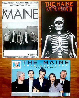 The Maine Forever Halloween Poster (THE MAINE American Candy | Forever Halloween | Black & White 3 RARE Posters)