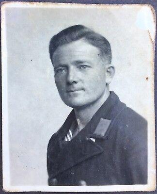 E182 Portrait Kriegsmarine Matrose Seemann Passbild mit Widmung