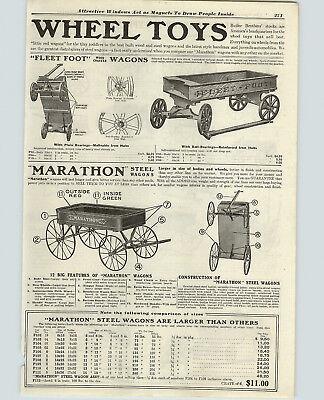1919 PAPER AD Fleetfoot Fleet Foot Marathon Coatser Wagon Express Farm Liberty