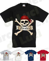 Camiseta Calavera Piratas Pirates Cráneo Camisa De Encargo Nome Niño Niña -  - ebay.es