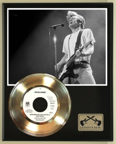 "Bryan Adams ""Everything I Do"" Record Display Wood Plaque"