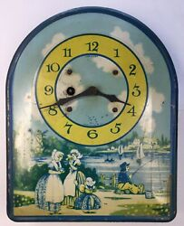 Irving Miller - Tin Litho Dutch Clock - Litho