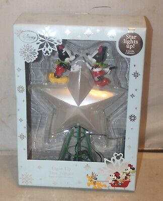 MICKEY and MINNIE Mouse Christmas Holiday Tree Topper Light Up Star Disney Store