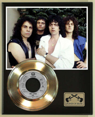 "Dio ""Holy Diver"" Record Display Wood Plaque"