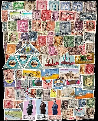 IRAQ VERY LARGE ACCUMULATION OF VINTAGE STAMPS (130)