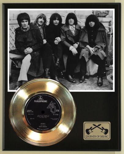 "Deep Purple ""Hush"" Record Display Wood Plaque"