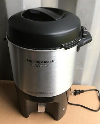 Hamilton Beach 40 Cup Brew Station Coffee Urn Damaged Maker Dispenser Tea