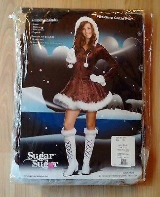 Women's eskimo cutie pie Halloween costume Size xs -Does not include boot covers (Eskimo Cutie Costume)