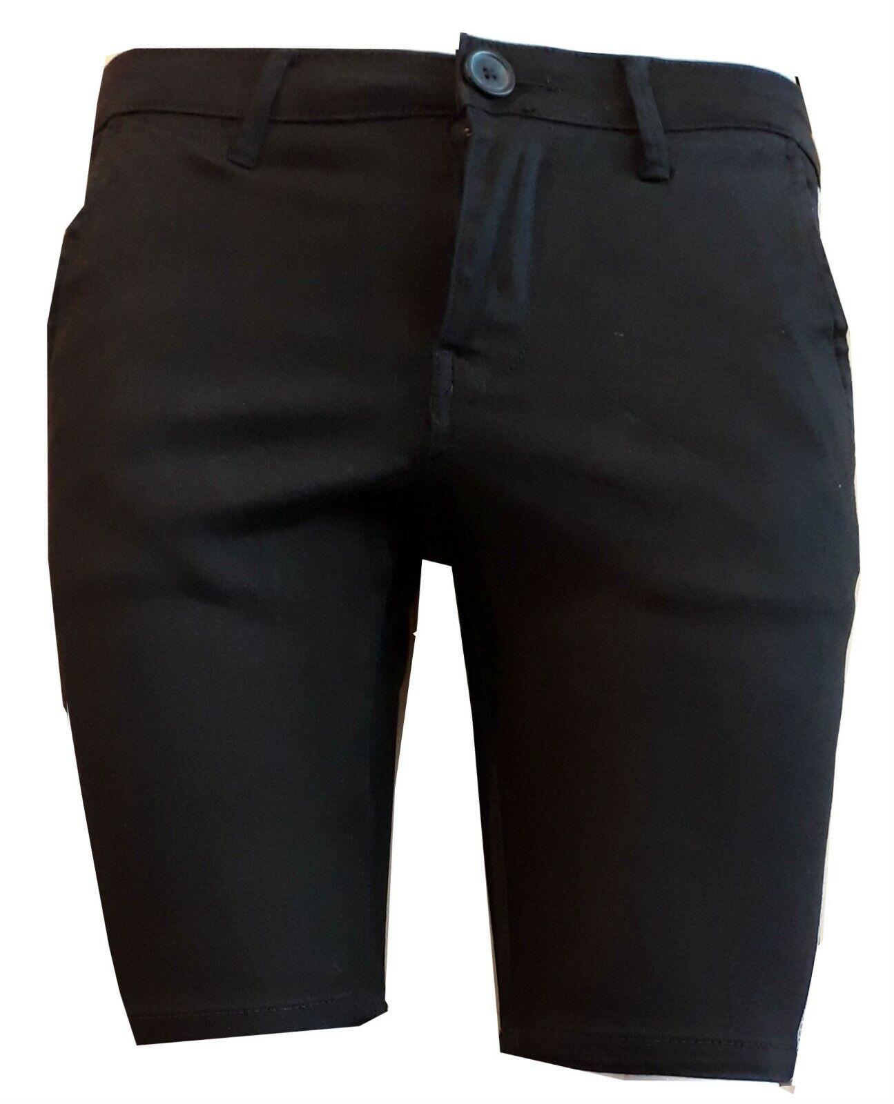 Mens Chino Shorts Slim Fit Stretch Designer summer wear W28 to W40