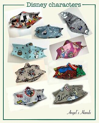 Disney Handmade face mask with filter pocket and nose wire for kids, made in USA