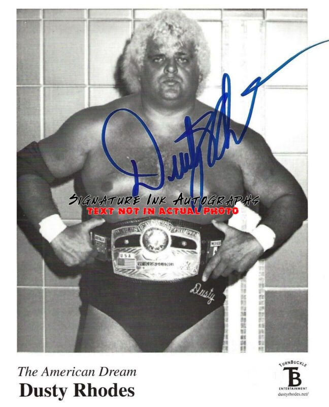 Dusty Rhodes Signed WWE 8x10 Photo Autographed reprint