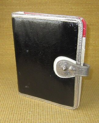 Classic 1 Rings Black Sim. Leather Gals Franklin Covey Open Plannerbinder