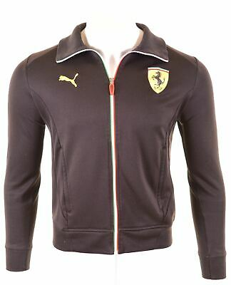 PUMA Mens Ferrari Tracksuit Top Jacket Small Black  BZ14
