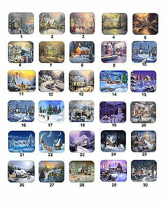 30 Personalized Return Address Labels Christmas Cottages Buy 3 get 1 free (cco)