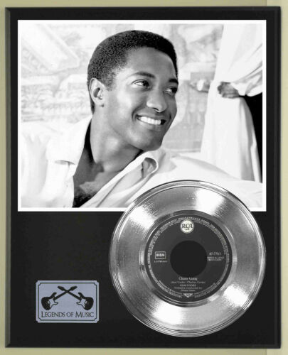 "Sam Cooke ""Chain Gang"" Silver Record Display Wood Plaque"