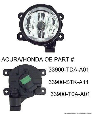 PASSENGER OR DRIVER FOG LIGHT FOR 2011-15 ACURA HONDA TSX RDX TL ILX CR-V PILOT