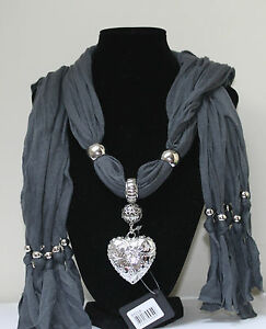 Beaded-Jewellery-Jewelled-Pendant-Necklace-Scarf-Choice-of-Style-Colour