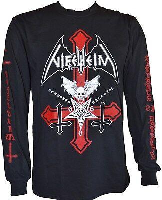Cross Long Sleeve Shirt Schwarz (NIFELHEIM - Servants Of Darkness * Inverted Cross - Longsleeve Shirt)