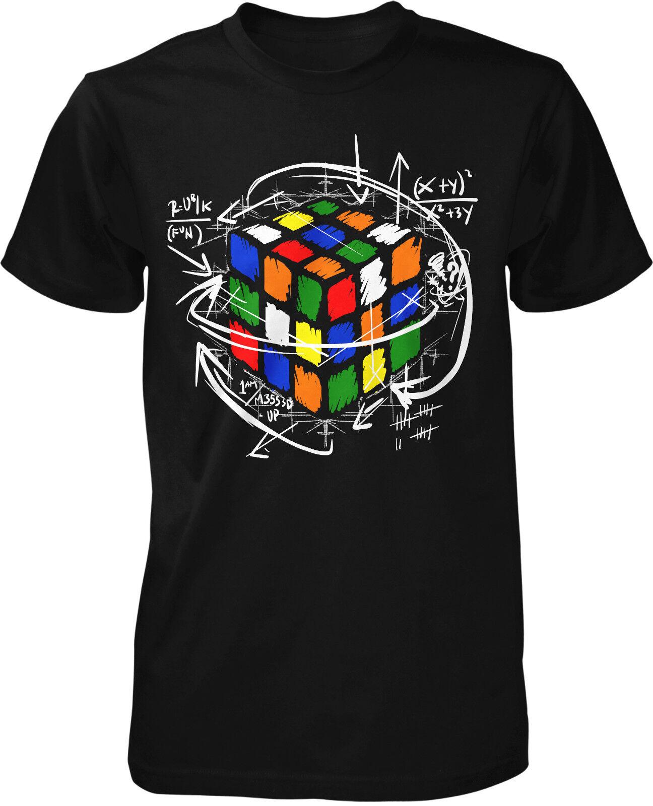 Rubik Cube T-Shirt Zauber Kult Retro Oldschool Würfel Fun Sheldon Nerd 90's 90er
