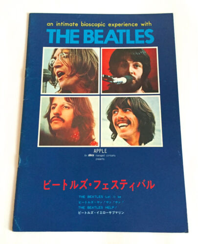 THE BEATLES FESTIVAL JAPAN MOVIE PROGRAM BOOK 1976 Let It Be Lennon McCartney