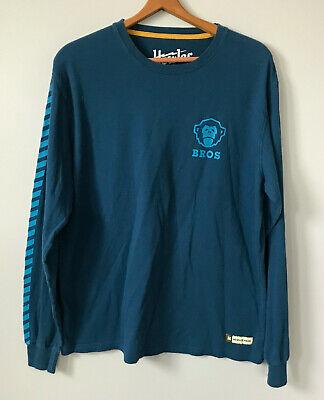 Mens Howler Bros Crewneck Long Sleeve T Shirt Sz Large Navy Blue Mens Brothers