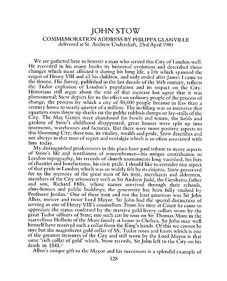 John Stow (counsellor to Henry VIII)  by P Glanville
