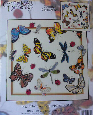 Bug Collection Kit (Candamar Designs Counted Cross Stitch Kit Bug Collection- Butterflies,)