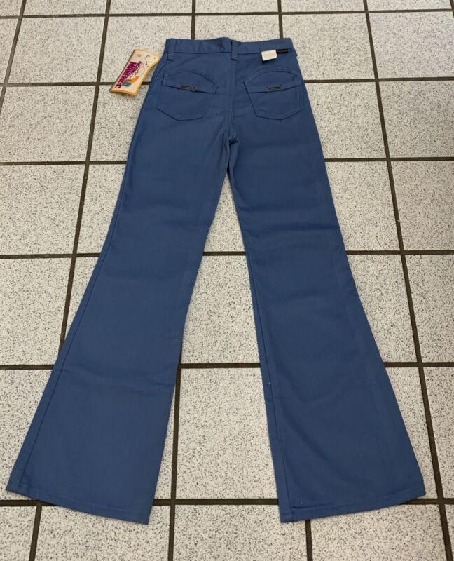 Vintage Girls Bell Bottom Jeans Hippie Disco 24 X 27 Flare 1970s NEW Sz 10
