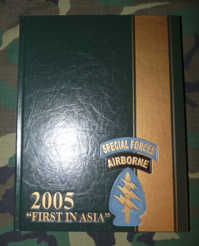 Original US Army 1st Special Forces Group 2005 First in Asia Yearbook Hardcover