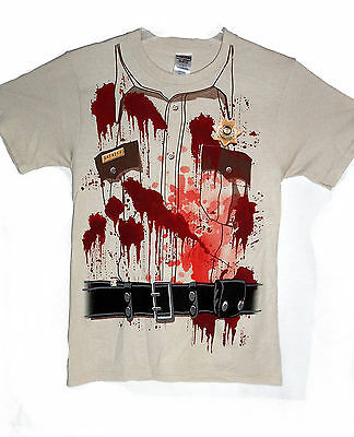 NEW BLOODY SHERIFF's OUTFIT SHIRT ZOMBIE PATROL XL HALLOWEEN T-SHIRT TAN](Sheriff Outfit)