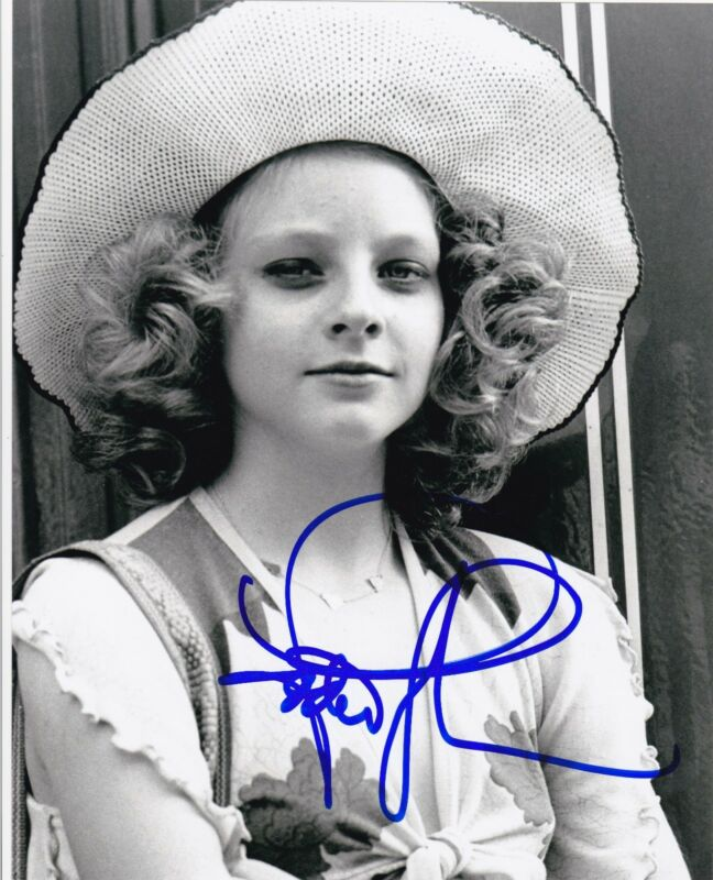 JODIE FOSTER SIGNED 8X10 PHOTO TAXI DRIVER SILENCE OF THE LAMBS AUTOGRAPH COA A