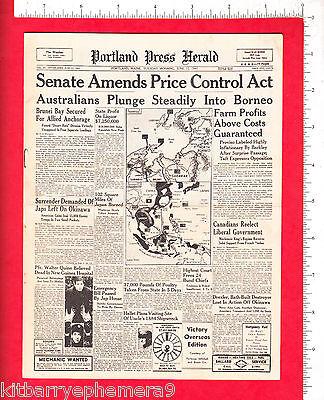 7647  Ww 2 Newspaper Portland Press Herald 1945 Ship Drexler Me Lt George Dieter