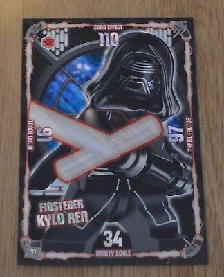 Lego® Star Wars™ Serie 1 Trading Card Nr. 91 Finsterer Kylo Ren Dunkle Seite XXL
